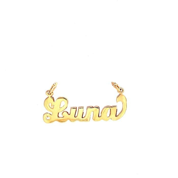 Customizable Nameplate with end design-pendant charm-lirysjewelry