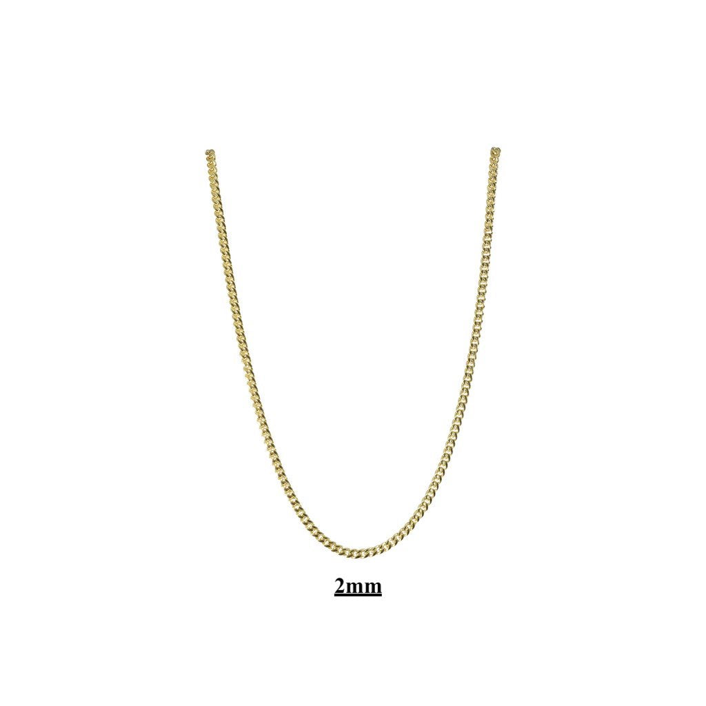Small Miami Cuban Link Necklaces 2mm 3mm 4mm 5mm 10kt 14kt Gold-Miami Cuban Link-lirysjewelry