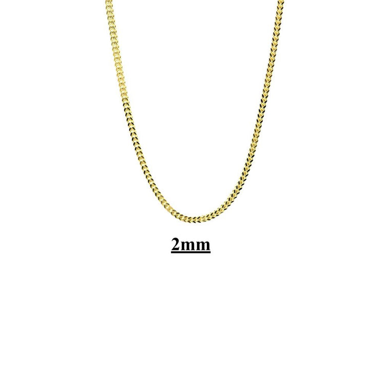 10kt Hollow Franco Link Necklaces-lirysjewelry