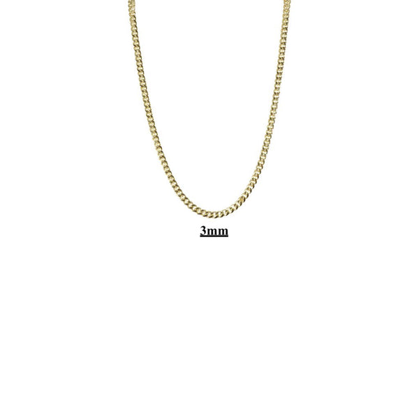 Small Miami Cuban Link Necklaces 2mm 3mm 4mm 5mm 10kt 14kt Gold-lirysjewelry