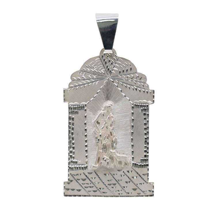 Hand Made 925 Sterling Silver San Lazaro Pendant 46 grams-pendant charm-lirysjewelry