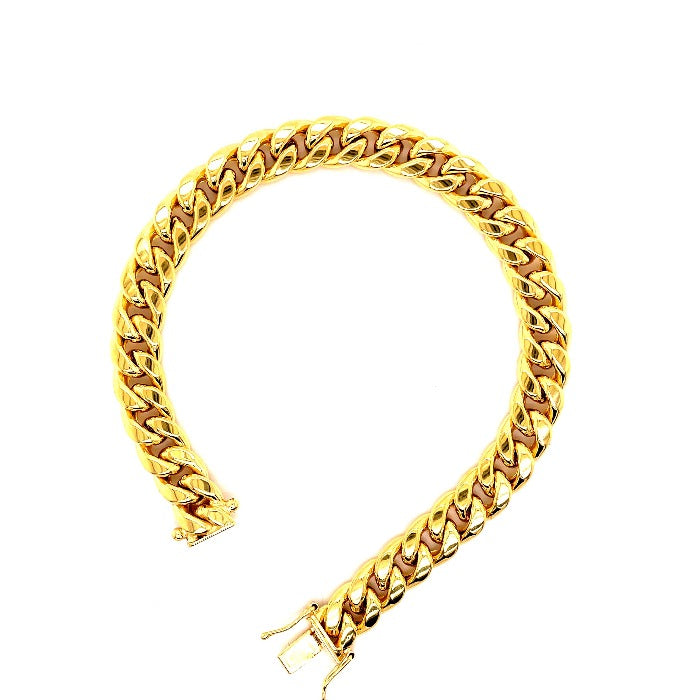 Gold Hollow Miami cuban link bracelets-lirysjewelry