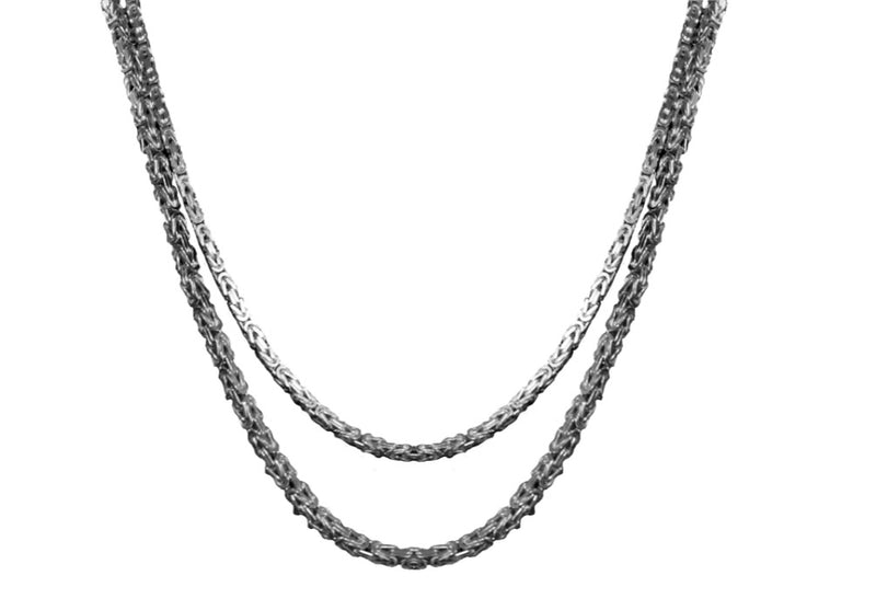 Genuine 925 Sterling Silver Byzantine Necklaces-lirysjewelry