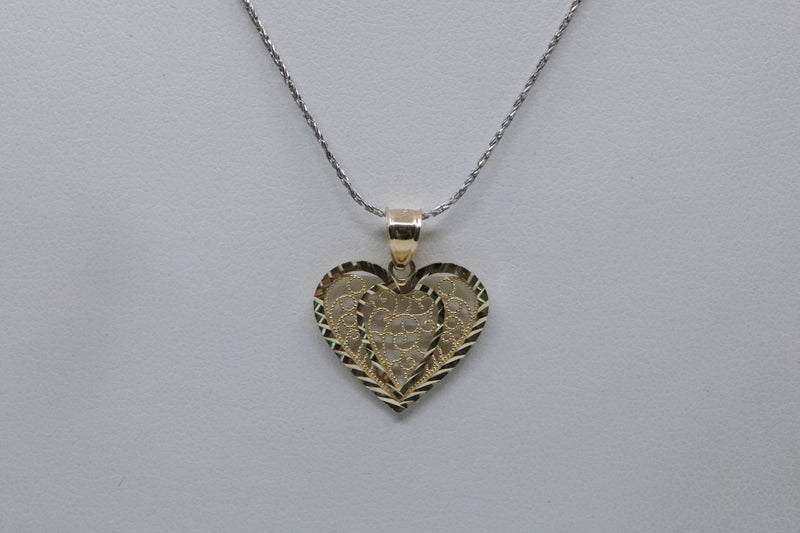 10kt Yellow Gold Heart Pendant 1.4g-lirysjewelry