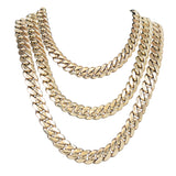 Solid Gold Handmade Miami Cuban Link Necklaces 10kt 14kt 18kt 22kt 24kt-Miami Cuban Link-lirysjewelry