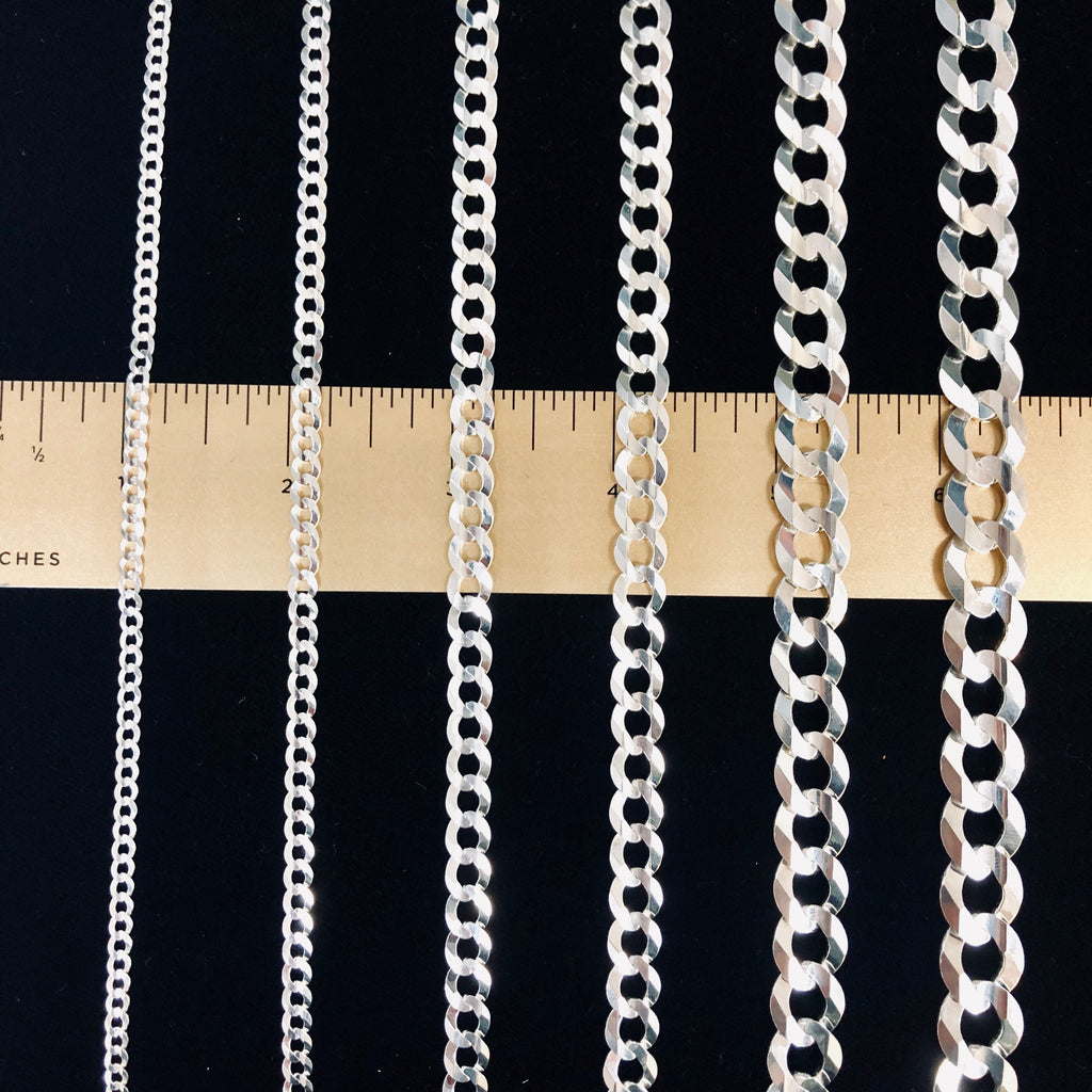 Genuine 925 Sterling Silver Curb Link Necklaces-lirysjewelry