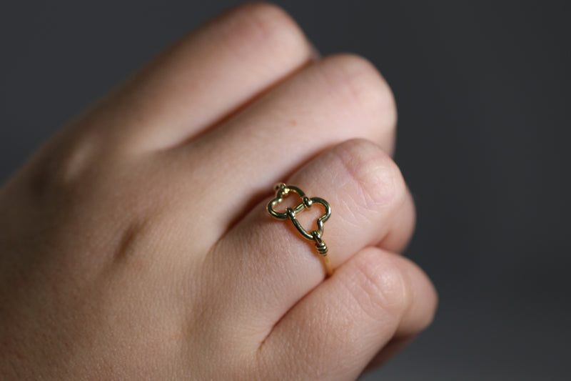 10KT YELLOW GOLD TWO-HEARTS RING 1.2GR-ring-lirysjewelry