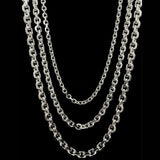 Genuine 925 Sterling Silver Diamond Cut Anchor Style Necklace Chain-Silver-lirysjewelry