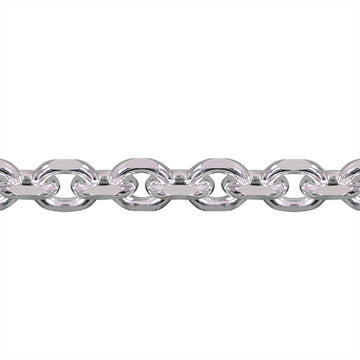 Genuine 925 Sterling Silver Diamond Cut Anchor Style Box Rolo Bracelet-Silver-lirysjewelry