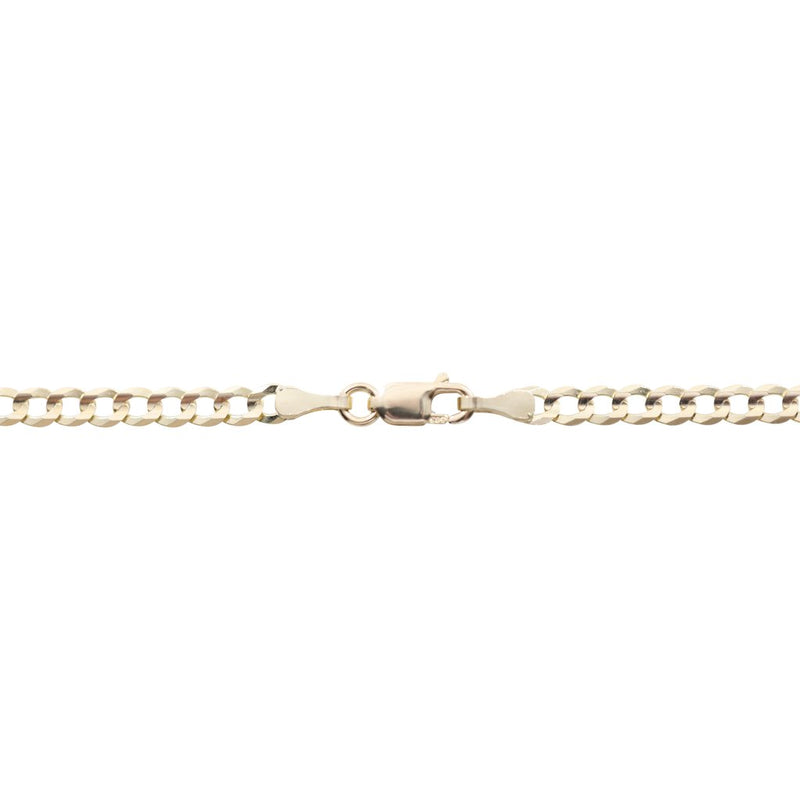Genuine Gold Curb Link Anklets-lirysjewelry