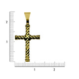 In House Twisted Cross-pendant charm-lirysjewelry