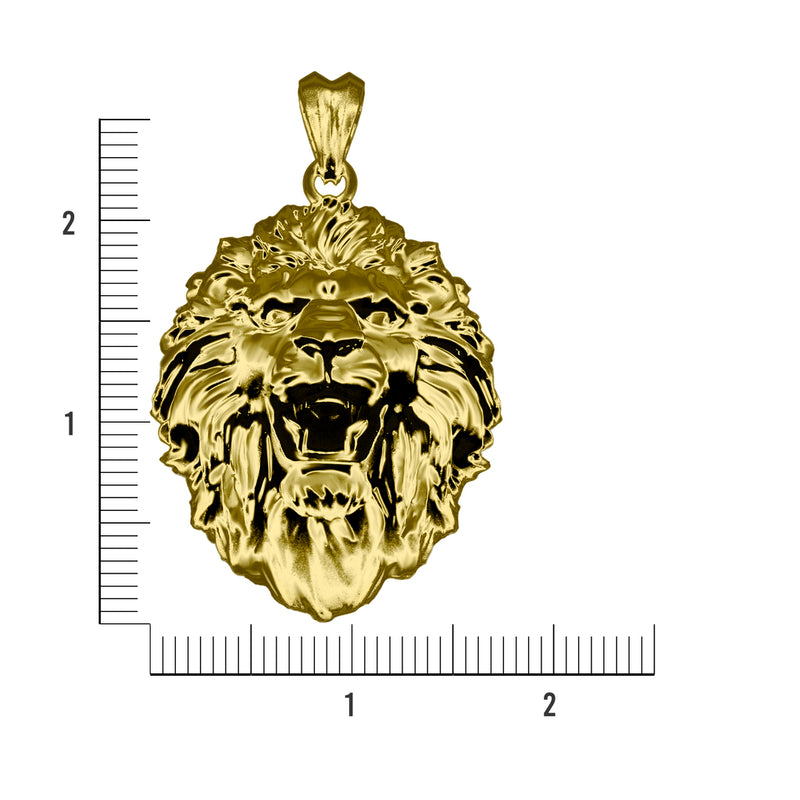 In House Lion Head Pendant-pendant charm-lirysjewelry