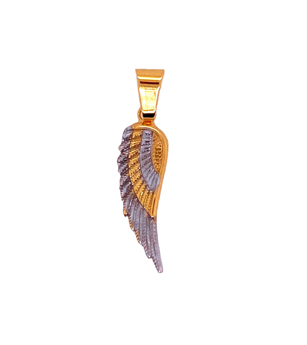 Angel wing two tone-pendant charm-lirysjewelry