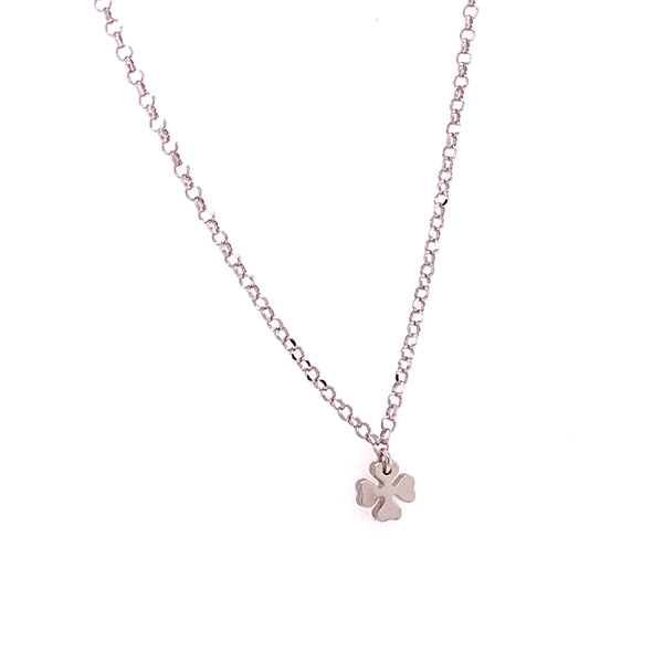 925 Sterling Silver Clover Charm & Chain-lirysjewelry