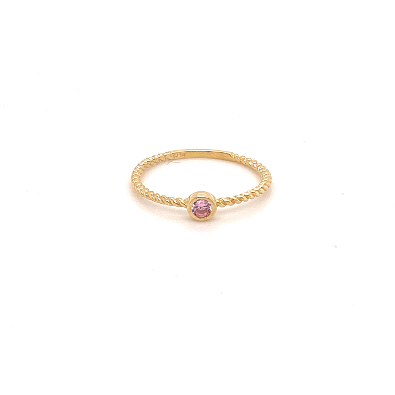Simple fashion fancy designer light pink cz stone woman's ring-ring-lirysjewelry