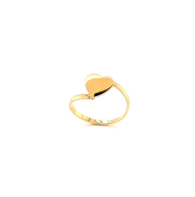 10KT Yellow Gold Simple Heart Ring 1.1g-ring-lirysjewelry