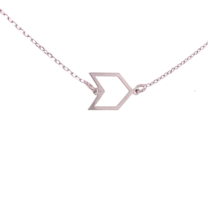 925 Sterling Silver Arrow Charm & Chain-lirysjewelry