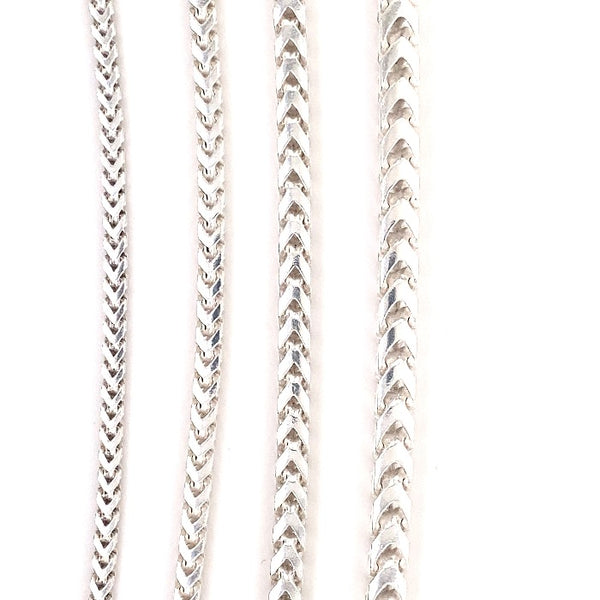 925 Sterling Silver Franco Necklaces & Chains-Silver-lirysjewelry