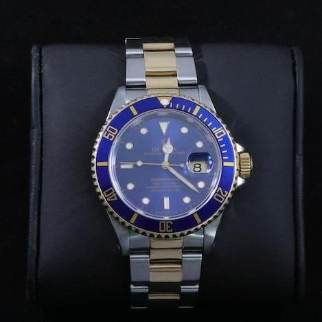 40mm 18kt Yellow Gold and Oyster-steel Submariner Rolex Watch-lirysjewelry