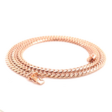 Rose Gold Miami Cuban Link Necklaces-lirysjewelry