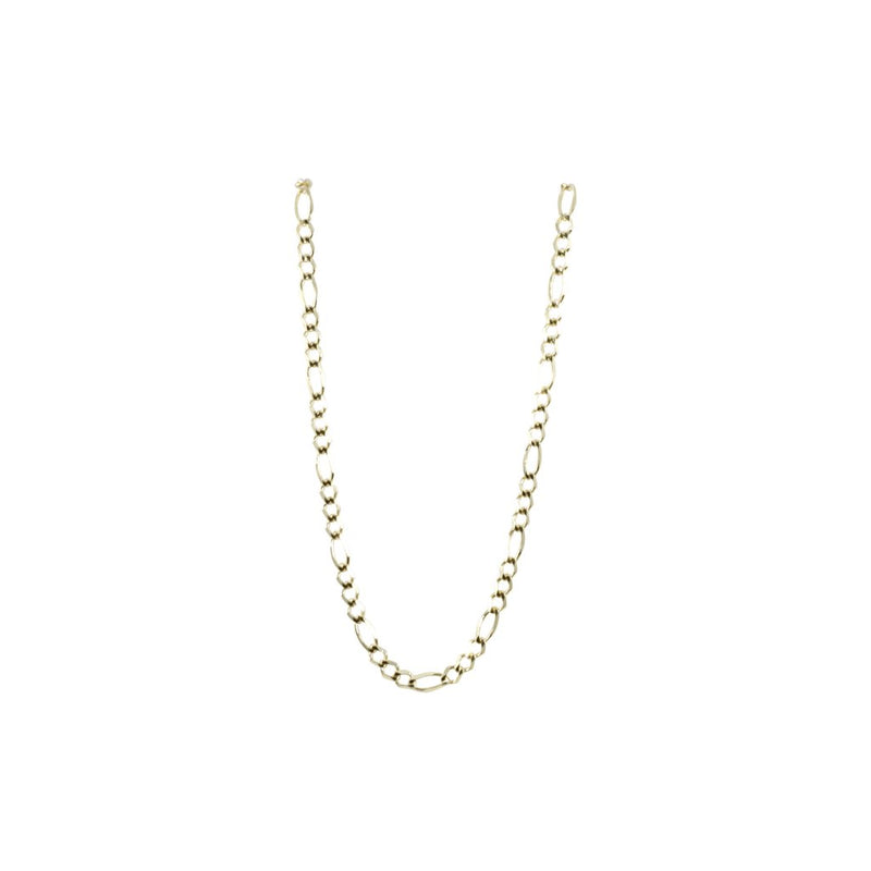 Solid Genuine Gold Figaro Link Necklaces Chains-lirysjewelry