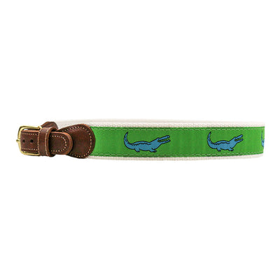 Buddy Belt-Crocodile on Green