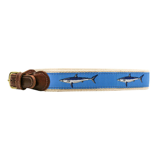 Buddy Belt-Mako Sharks on Light Blue
