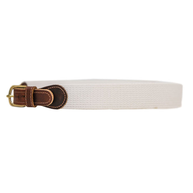 Buddy Belt-Canvas in White