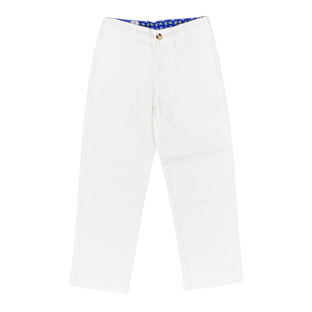 Champ Pant-White Twill