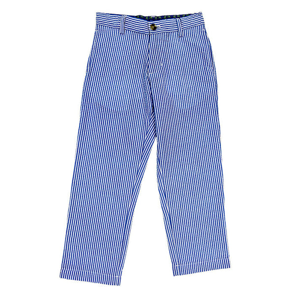 Blue Stripe Seersucker Boys Champ Pant