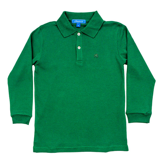 Harry Long Sleeve Polo-Kelly