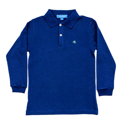 Harry Long Sleeve Polo-Royal