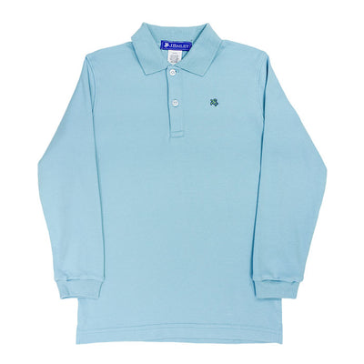Harry Long Sleeve Polo-Ocean