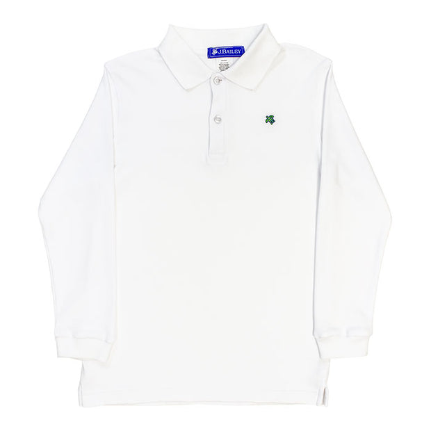 Harry Long Sleeve Polo-White
