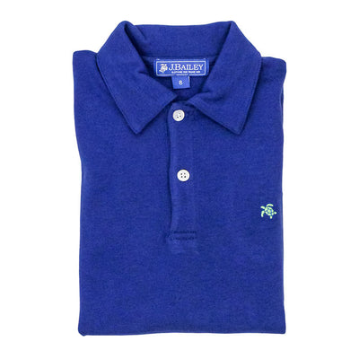 Henry Short Sleeve Polo-Royal Blue