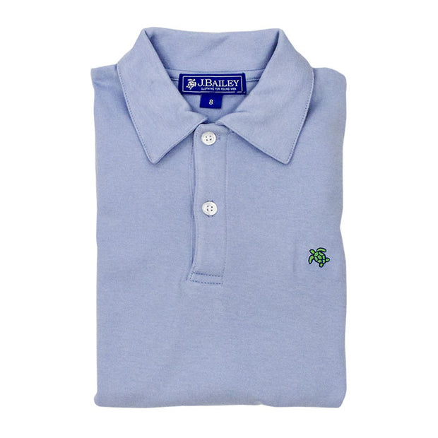 Henry Short Sleeve Polo-Light Blue