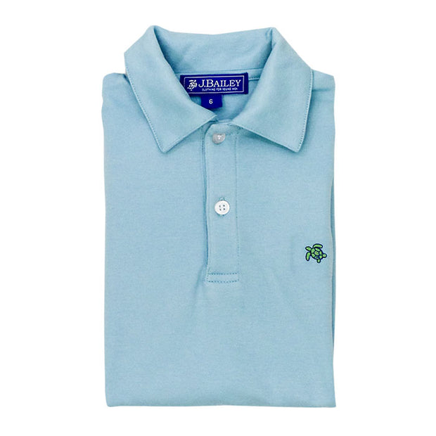 Henry Short Sleeve Polo-Blue Jay