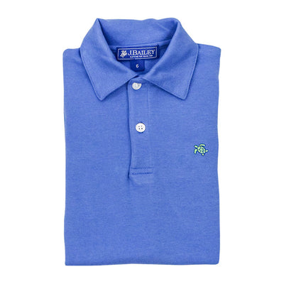 Henry Short Sleeve Polo-Dusk Blue