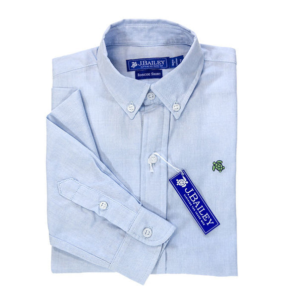 Blue Oxford Boys Roscoe Button Down Shirt