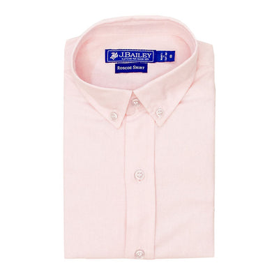 Roscoe Button Down Shirt-Pink Oxford