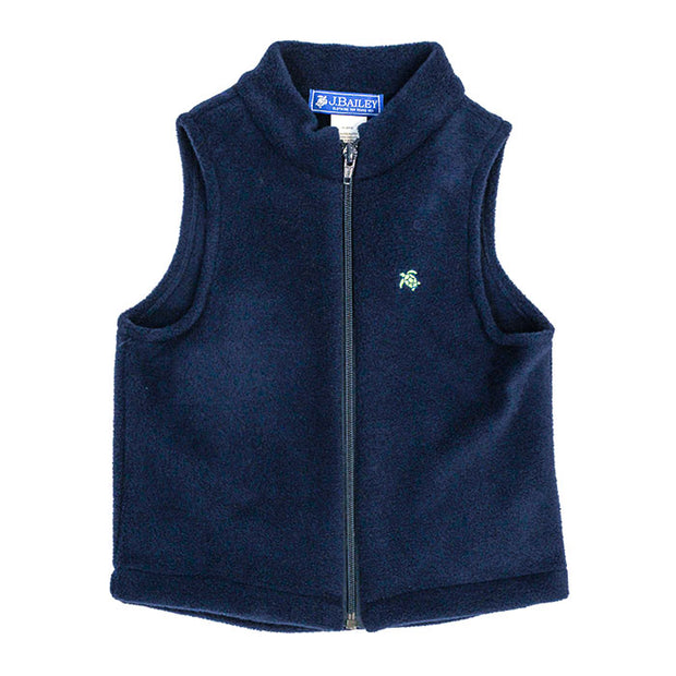 Mills Fleece Vest in Navy