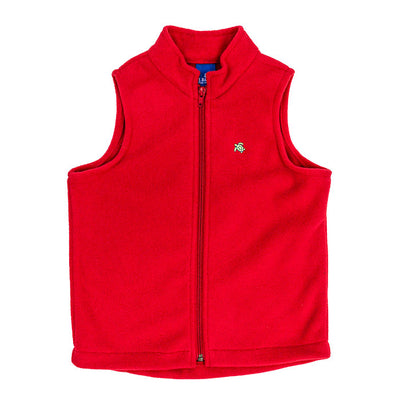Mills Fleece Vest in Red