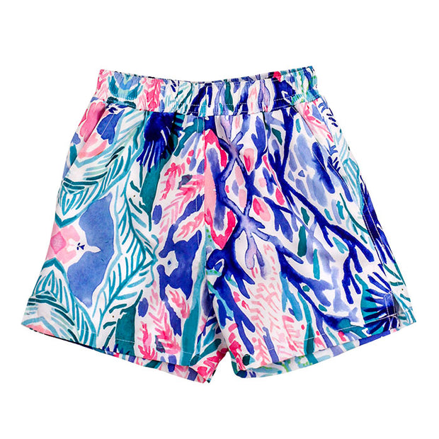 Board Swim Short-Reef Print