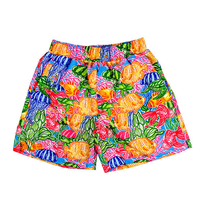 Board Swim Short-Tropical Print