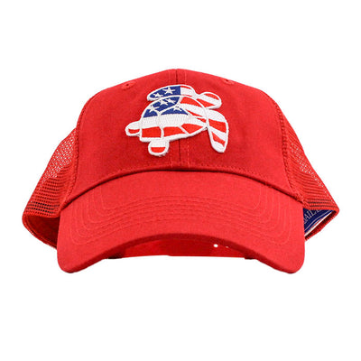 Trucker Hat-J. Bailey Turtle on Red