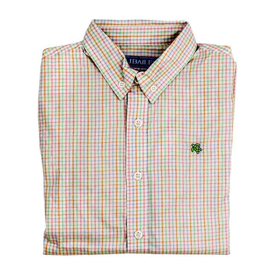 Roscoe Button Down Shirt-Easter Basket Plaid