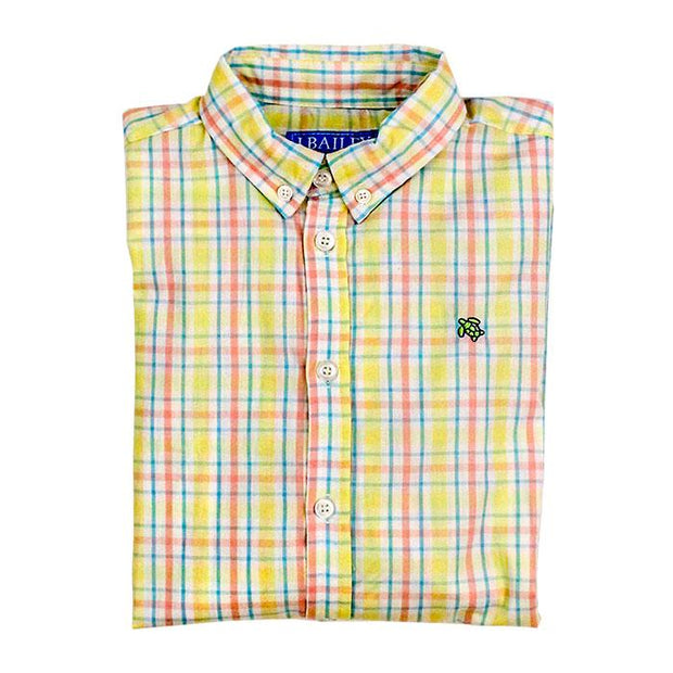 Roscoe Button Down Shirt-Kiawah Plaid