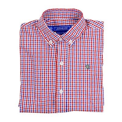 Roscoe Button Down Shirt-Marine Plaid