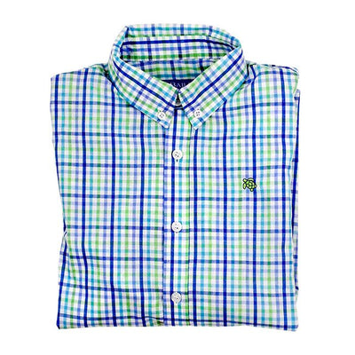 Roscoe Button Down Shirt-Pinwheel Plaid