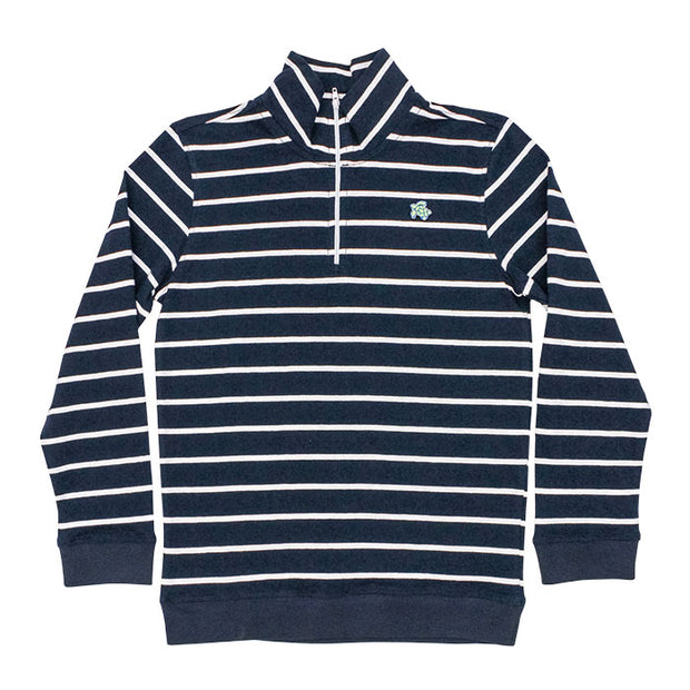 Glenn Half Zip-Navy Stripe